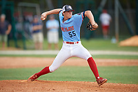 Jake Willis (55) during the WWBA World Championship at the Roger Dean Complex on October 10, 2019 in Jupiter, Florida.  Jake Willis attends Upson-Lee High School in Thomaston, GA and is committed to Kennesaw State.  (Mike Janes/Four Seam Images)