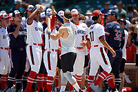 Jack Bulger during the home run derby before the Under Armour All-America Game, powered by Baseball Factory, on July 22, 2019 at Wrigley Field in Chicago, Illinois.  Jack Bulger attends DeMatha Catholic High School in Bowie, Maryland and is committed to Vanderbilt University.  (Mike Janes/Four Seam Images)