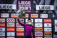 Elizabeth Deignan (GBR/Trek-Segafredo) on podium as leader in the UCI world ranking<br /> <br />  4th Liège-Bastogne-Liège-Femmes 2020 (1.WWT)<br /> 1 Day Race: Bastogne – Liège 135km<br /> <br /> ©kramon