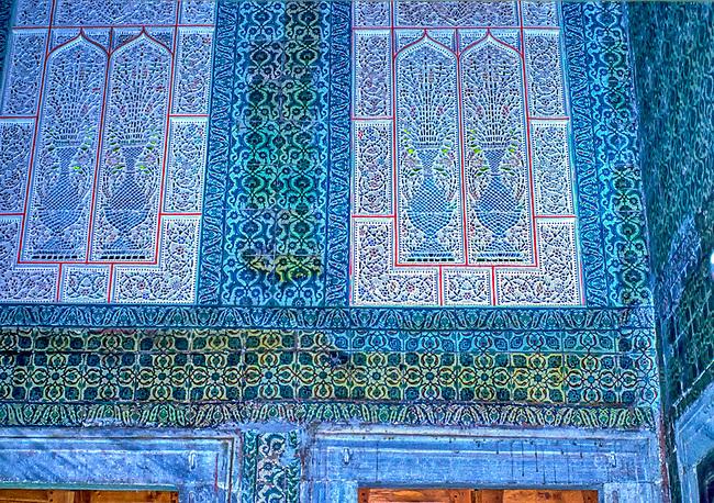 Istanbul, Topkapi Palace, Harem Window Detail