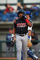 Lake Elsinore Storm second baseman Eguy Rosario (1) before an at bat during a California League game against the Rancho Cucamonga Quakes at LoanMart Field on May 18, 2018 in Rancho Cucamonga, California. Lake Elsinore defeated Rancho Cucamonga 5-4. (Zachary Lucy/Four Seam Images)