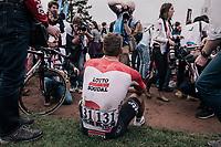Jens Debusschere (BEL/Lotto-Soudal) post-race<br /> <br /> 116th Paris-Roubaix (1.UWT)<br /> 1 Day Race. Compiègne - Roubaix (257km)