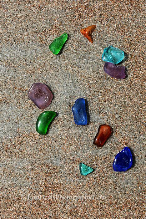 """Ocean's Rainbow""  Multi-colored seaglass  #N53"