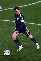 12th November 2020; Belgrade, Serbia; European International Football Playfoff Final, Serbia versus Scotland;  Andrew Robertson Scotland breaks forward on the ball
