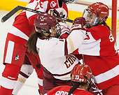 Kristyn Capizzano (BC - 7), Breanna Scarpaci (BU - 17) - The Boston College Eagles defeated the visiting Boston University Terriers 5-3 (EN) on Friday, November 4, 2016, at Kelley Rink in Conte Forum in Chestnut Hill, Massachusetts.The Boston College Eagles defeated the visiting Boston University Terriers 5-3 (EN) on Friday, November 4, 2016, at Kelley Rink in Conte Forum in Chestnut Hill, Massachusetts.