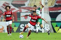 11th July 2021; Estádio Maracanã, Rio de Janeiro, Brazil. Brazil A_League football, Flamengo versus Chapecoense;  Giorgian De Arrascaeta of Flamengo challenges Anselmo Ramon of Chapecoense