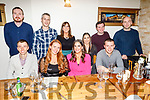 Enjoying the night out in Bella Bia on Saturday.<br /> Seated l to r: Deiter Gogsch, Elaine Groves, Aoife O'Sullivan and Edward Groves.<br /> Back l to r: Peter O'Connor, Anthony and Ciara Egan, Mary McKenna, Tommy Ryan and Kevin O'Shea.