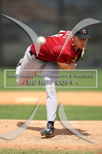 March 22, 2010:  Pitcher Mark Jones of the Houston Astros organization during Spring Training at the Carl Barger Training Complex in Melbourne, FL.  Photo By Mike Janes/Four Seam Images
