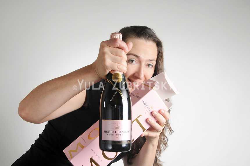 Christmas- woman with champagne