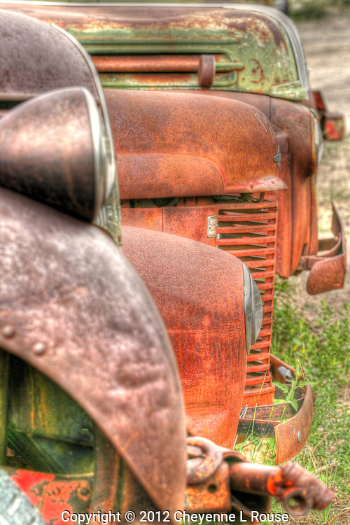 Vintage Truck hoods - Route 66 - New Mexico. © 2012 Cheyenne L Rouse/All rights reserved