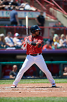 Erie SeaWolves Isaac Paredes (18) at bat during an Eastern League game against the Harrisburg Senators on June 30, 2019 at UPMC Park in Erie, Pennsylvania.  Erie defeated Harrisburg 4-2.  (Mike Janes/Four Seam Images)