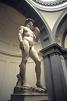 World Famous statue David by Michelangelo in Milan Milano Ital