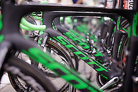 Orica-BikeExchange teambikes ready at the start of stage 8 in Pau (towards Bagnères-de-Luchon, 184km)<br /> <br /> 103rd Tour de France 2016