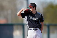 Cregg Scherrer during the Under Armour All-America Pre-Season Tournament, powered by Baseball Factory, on January 19, 2019 at Fitch Park in Mesa, Arizona.  Cregg Scherrer is a left handed pitcher from Skaneateles, New York who attends Skaneateles High School and is committed to University at Albany.  (Mike Janes/Four Seam Images)