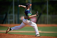 Dylan Rhadans during the WWBA World Championship at the Roger Dean Complex on October 20, 2018 in Jupiter, Florida.  Dylan Rhadans is a first baseman / left handed pitcher from Acworth, Georgia who attends North Paulding High School.  (Mike Janes/Four Seam Images)