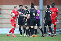 Tempers flare during Leyton Orient vs Port Vale, Sky Bet EFL League 2 Football at The Breyer Group Stadium on 20th February 2021