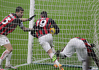 Milano  13-12-2020<br /> Stadio Giuseppe Meazza<br /> Campionato Serie A Tim 2020/21<br /> Milan - parma<br /> nella foto:   Theo Hernandez                                                       <br /> Antonio Saia Kines Milano