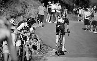 Ian Boswell (USA/SKY) at the 20% gradient on the final climb tow<br /> <br /> stage 16: Luarca - Ermita de Alba<br /> 2015 Vuelta à Espagna