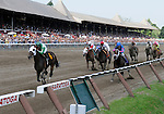09 August 1: Dixieland Star, Javier Castellano in the irons, wins the 3rd race on Jim Dandy Stakes day at Saratoga Race Track in Saratoga Springs, New York.
