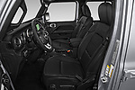 Front seat view of a 2020 Jeep Gladiator Overland 4 Door Pick Up front seat car photos