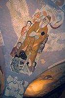 Europe/Allemagne/Rhénanie du Nord-Westphalie/Cologne: la Cathédrale gothique Detail de la voute de la croisée du transept représentant un Père Noël