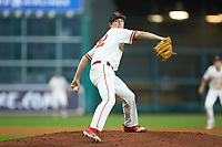 Houston Cougars relief pitcher Griffin Hattingh (42) in action in game two of the 2018 Shriners Hospitals for Children College Classic at Minute Maid Park on March 2, 2018 in Houston, Texas.  The Wildcats defeated the Cougars 14-2 in 7 innings.   (Brian Westerholt/Four Seam Images)