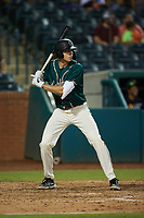 Will Matthiessen (46) of the Greensboro Grasshoppers at bat against the Winston-Salem Dash at First National Bank Field on June 3, 2021 in Greensboro, North Carolina. (Brian Westerholt/Four Seam Images)