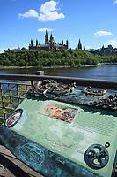 Ottawa (ON) CANADA - Mai 21, 2012 -  bridge between Ottawa and Hull-Gatineau.