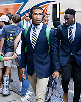 ATHENS, GA - SEPTEMBER 21: Shayne Simon #33 of the Notre Dame Fighting Irish arrives prior to the game during a game between Notre Dame Fighting Irish and University of Georgia Bulldogs at Sanford Stadium on September 21, 2019 in Athens, Georgia.