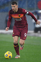 Edin Dzeko of AS Roma in action during the Serie A football match between AS Roma and UC Sampdoria at Olimpico stadium in Roma (Italy), January 3rd, 2021. Photo Andrea Staccioli / Insidefoto