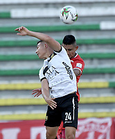 PALMIRA - COLOMBIA, 24-01-2021: Rodrigo Ureña del América y Jacobo Escobar de Águilas Doradas durante partido por la fecha 2 como parte de la Liga BetPlay DIMAYOR I 2021 entre América de Cali y Águilas Doradas Rionegro jugado en el estadio Francisco Rivera Escobar de la ciudad de Palmira. / Rodrigo Ureña of America and Jacobo Escobar of Aguilas Doradas during match for the date 2 as part of BetPlay DIMAYOR League I 2021 between America de Cali and Aguilas Doradas Rionegro played at Francisco Rivera Escobar stadium in Palmira city. Photo: VizzorImage / Gabriel Aponte / Staff