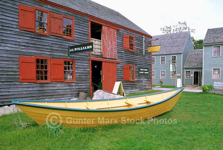 The Dory Shop in the Historic District of Shelburne, Nova Scotia, Canada
