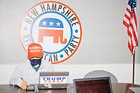 Trump Campaign Phone Bank - John Pence greets volunteers - Concord NH - 16 Sep 2020