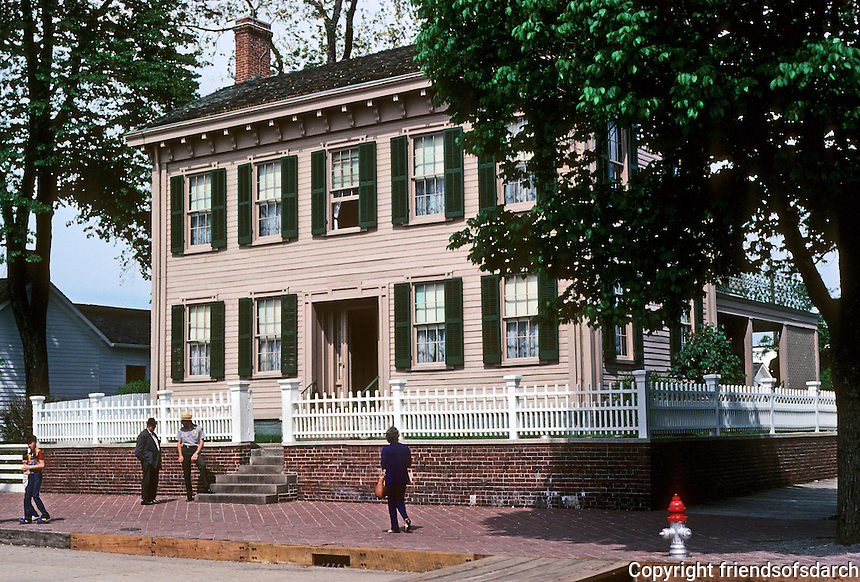 Springfield: Lincoln House, 1839 and 1856. Photo '78.