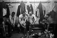 Pix:Michael Steele/SWpix...Batley Rugby League club. Rugby League. From the book 'When Push Comes to Shove'....COPYRIGHT PICTURE>>SIMON WILKINSON..Batley banter.