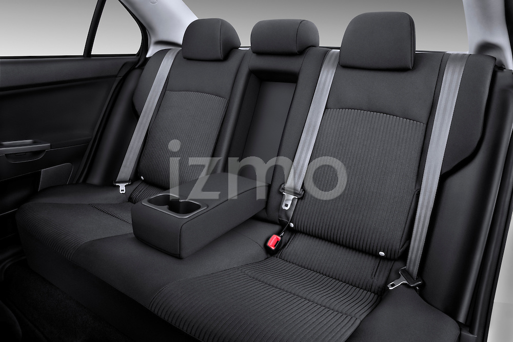 Rear seats inside a 2012 Mitsubishi Lancer GT Touring