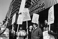 Strike,Toronto<br /> <br /> Photo : Boris Spremo - Toronto Star archives - AQP