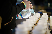 filling bidons, lots of them<br /> <br /> Team Lotto Jumbo winter training camp<br /> Mojácar, Spain, January 2015