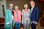 Attending the inaugural Ballybunion Arts Festival in the Tinteán Theatre in Ballybunion on Thursday, l to r: Katie O'Brien (Kerry), Eilish O'Carroll (Mrs Browns Boys), Marion Relihan and Jimmy Deenihan.