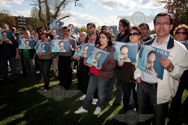 Oslo, Norway: Demonstration against the execution of Iranian woman Delara Darabi who was sentenced to death at the age of 17. Amnesty held a protest in front of the Iranian embassy. .©Fredrik Naumann/Felix Features for Amnesty.