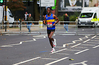 3rd October 2021; London, England: The Virgin Money 2021 London Marathon: Weynay Ghebresilasie of Great Britain running on Butcher Row, Limehouse between mile 21 and 22 starting towards central London and the finish.