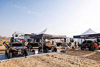 31st December 2020, Jeddah, Saudi Arabian. The vehicle and river shakedown for the 2021 Dakar Rally in Jeddah; PH bivouac atmosphere during the shakedown