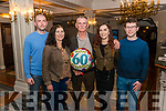 Mike Sheehan from Killarney celebrated his 60th birthday on his short visit from Africa after spending 2 years there working for ESB. He will be returning to Africa for another year this Wednesday. Mike celebrated his birthday surrounded by friends and family in the Killarney Avenue Hotel last Friday night Pictured with his family l-r Alan Aileen, Caelainn and Bryan Sheehan.