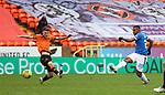 13.12.2020 Dundee Utd v Rangers: Alfredo Morelos shoots just wide