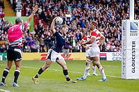 Scotland Outside Centre Mark Bennett celebrates scoring his sides second try - Mandatory byline: Rogan Thomson - 23/09/2015 - RUGBY UNION - Kingsholm Stadium - Gloucester, England - Scotland v Japan - Rugby World Cup 2015 Pool B.