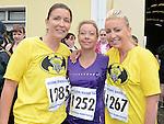 Sarah Jane Kelly, Sinead McGuinness and Lynn Browne who ran the Integral Clogherhead 10K run. Photo:Colin Bell/pressphotos.ie