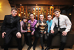 Hurlers Paul Leamy, Cian O' Ceallaigh and Brian Fleming with Conor Dolan, Cian Burke and Conor Brennan from the minor football panel during Éire Óg GAA's medal presentation night at the Auburn Lodge Hotel in Ennis. Photograph by Declan Monaghan