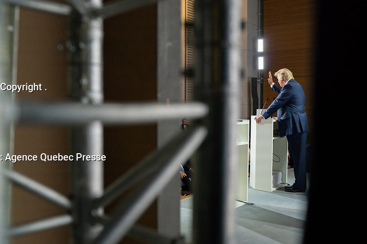 President Donald J. Trump and French President Emmanuel Macron participate in a joint press conference at the Centre de Congrés Bellevue Monday, Aug. 26, 2019, in Biarritz, France, site of the G7 Summit. (Official White House Photo by Shealah Craighead)