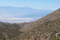 View of Saline Valley from the South, on Saline Valley Road near Hunter Mountain. Death Valley National Park, California