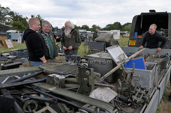 Autojumble. Dunsfold Collection of Land Rovers Open Day 2011, Dunsfold, Surrey, UK. --- No releases available, but releases may not be necessary for certain uses. Automotive trademarks are the property of the trademark holder, authorization may be needed for some uses.